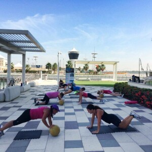 Yas Marina CrossFit Founder and CrossFit Games Director pay a visit to Vogue Fitness at Yas Marina to commemorate the opening and new collaboration 8